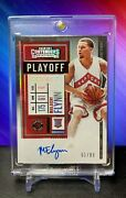 2020 Contenders Malachi Flynn Playoff Ticket Variant Auto 51/99 Rookie