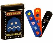New Pac-man Ghost Bandages With 15 Bandages And Tin Case