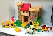 Vintage Fisher Price Little People Play Family Castle 993 Complete Set Dragon