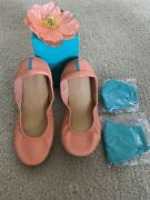 Peach Poppy Tieks - Size 10 Bnibandnbsp Sold Out With Two Tieks Face Masks