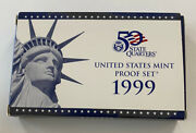 1999 Us Mint Proof Set 9 Coins With Coa In Ogp Includes Coin Specifications