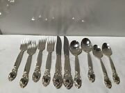 C.1953 Oneida Silver Ballad-country Lane 10 Items 2x5 Place Sets Silver Plate