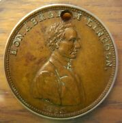 1860 Abraham Lincoln Presidential Campaign Medal Near Unc