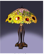 Style Sunflower Table Lamp 25 Bronze Handcrafted New