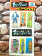 Vintage Puffy Stickers Rare Tigersharks New In Package. 1988