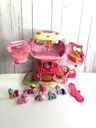 My Little Pony Ponyville Pinky Pie's Balloon House And Lot Of 7 Pony's Works