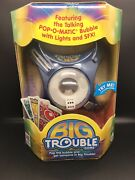 Milton Bradley Big Trouble Game Pop-o-matic Action With Lights New