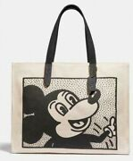 🏰coach Disney Mickey Mouse X Keith Haring Tote 42 🏰 Nwt