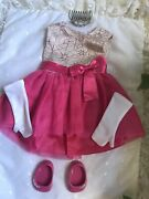 American Girl Create Your Own Cyo Letand039s Celebrate Outfit Pink Dress Shoes Tiara