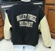 Valley Forge Military Academy And College Varsity Jacket Menand039s Xl Leather Sleeves