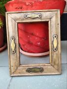 Vintage Hand Crafted Wooden Brass Embedded Work Wall Hanging Picture Frame