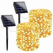 Extra-long Solar String Lights Outdoor 2-pack Each 72ft 200 Led Super Bright So