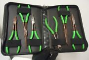 Mac Tools Pliers Set Green Nose Pliers,grippers,duck Bill Cutter With Case