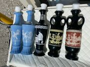 Vintage 1950s Lot Of 5 Jim Beam Decanters Bottle Collectible
