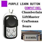 Replacement Garage Remote For Chamberlain Liftmaster Purple Learn Button 1-4 Btn
