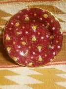 Scarce Beautiful Royal Albert Old Country Roses Ruby Lace Chintz 8 Salad Plate