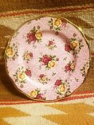 Beautiful Royal Albert Old Country Roses Dusky Pink Lace Chintz 8 Salad Plate