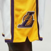 Mitchell Ness Los Angeles Lakers 2009-10 Kobe Gasol Metta White Authentic Shorts