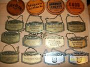 Lot Of 16 Whisky Bottle Hang Tags Mostly Jack Daniels