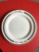 Fort Pitt Beer-old Shay Ale Pittsburgh Pa. Mcnichol China B And B Plate Scarce