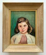 George Chann Chinese American -la Farmerand039s Market Portrait Of Young Girl -1953