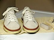 Allen Edmonds Porter Derby Casual Sneakers 8 D Natural Color Perforated