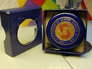 Vintage Singer Blue And Brass Century Of Sewing 1851-1951 Tape Measure W Clip/box