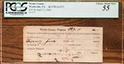 Civil War. Csa. Wythe County Virginia 25 Note Pcgs Graded/certified