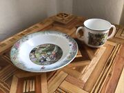 Villleroy And Boch Foxwood Tales Paterson Cup Double Handle And Bowl 1994 Rabbits