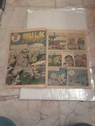 1962 Incredible Hulk 1 Coverless Incomplete Original Issue.