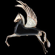 Corocraft Sterling Jelly Belly Pegasus Flying Winged Horse Pin
