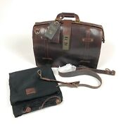 Will Leather Goods The Counsel Doctor Bag Mens Dark Brown Leather Briefcase 3160
