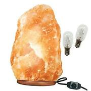 Large Himalayan Rock Salt Lamp Pink Crystal Natural Authentic Hand Carved Amber