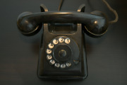 Beautiful Vintage Black Telephone/old Phone Approx.1930'-1940's