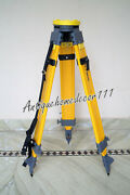 New Heavy Duty Wooden Tripod Dual Lock For Survey Instrument Total Station Level