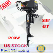 5hp 48v Electric Outboard Trolling Motor Fishing Boat Engine With Propeller Usa