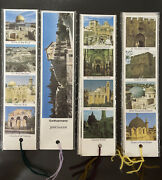 """Bookmark """"flowers From The Holy Land """" Collection Of Jerusalem Lot Of 10"""