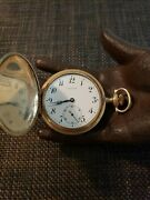 Antique Longines Evans And Sons 15j 16s Pocket Watch Gold Fill Hunter Case Repair