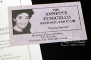 Annette Funicello Personal Property Business Card Fan Club Contact Information