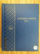 Complete Lincoln Cent Cents 1941 - 1974 90 Coins In A Whitman Album 08 Pds
