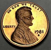 1981-s Type 2 Clear S Proof Lincoln Cent Variety Coin Penny