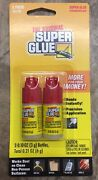 The Original Super Glue Tube 2-pack For Metal Wood Rubber And Plastic New