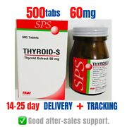 Natural Supplement Hypothyroidism Thyroid-s 60 Mg -- 500 Tablets