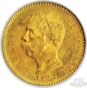 1882 R Italy 20 Lire Gold Coin Umberto Km-21 Rome Foreign Gold Coin 21528