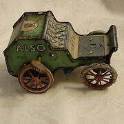 Lehmann Marke Tin Toy Car Also 700, Antique Wind Up, Germany, Early 1900's