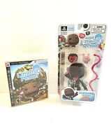 Little Big Planet Sackboy Collectible Action Figure [open Mouth] W/ Ps3 Game