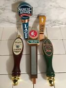 Lot 5 Vintage Beer Tap Handle Samuel Adams Finch's Lager Long Trail Chesterfield
