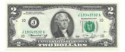 1976 2 Kansas City Frn Crisp And Uncirculated Banknote Scarce J District
