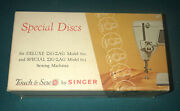 Singer Sewing Machine Touch And Sew Special Discs - Models 600 And 603 - Zig-zag
