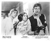 Carrie Fisher Leia Star Wars Signed Autograph 8 X 10 Photo Psa Dna J2f1c 27